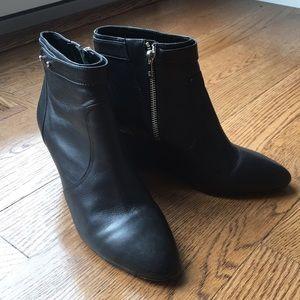 Loeffler Randall black ankle boots